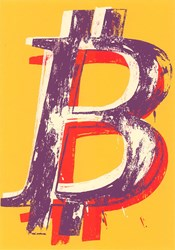 Bitcoin (Yellow) by Mr. Brainwash - Limited Edition on Paper sized 18x24 inches. Available from Whitewall Galleries
